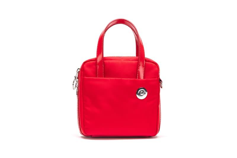 KARA Nylon Brick Bag Red