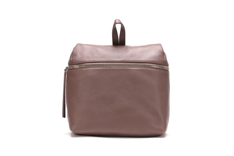 KARA Pebble Leather Backpack Taupe