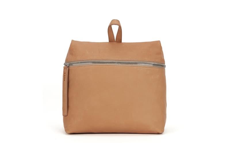 KARA Pebble Leather Backpack Kraft