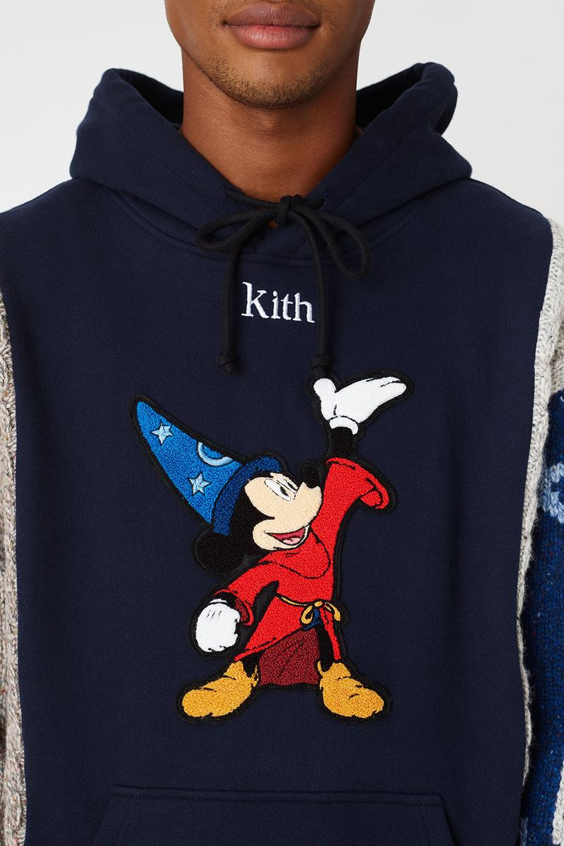 kith disney collaboration mickey mouse hoodies sherpa fleece black red cap hats ronnie fleg