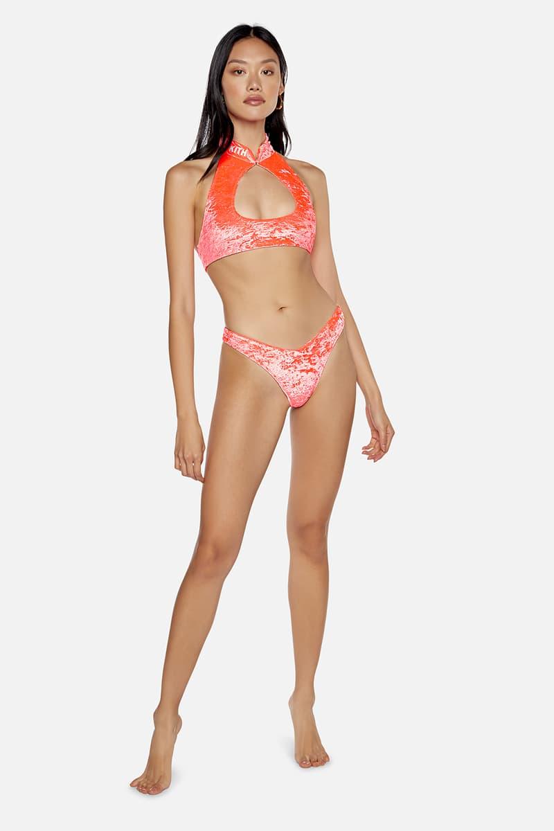 kith frankies bikinis collaboration bottom top neon pink