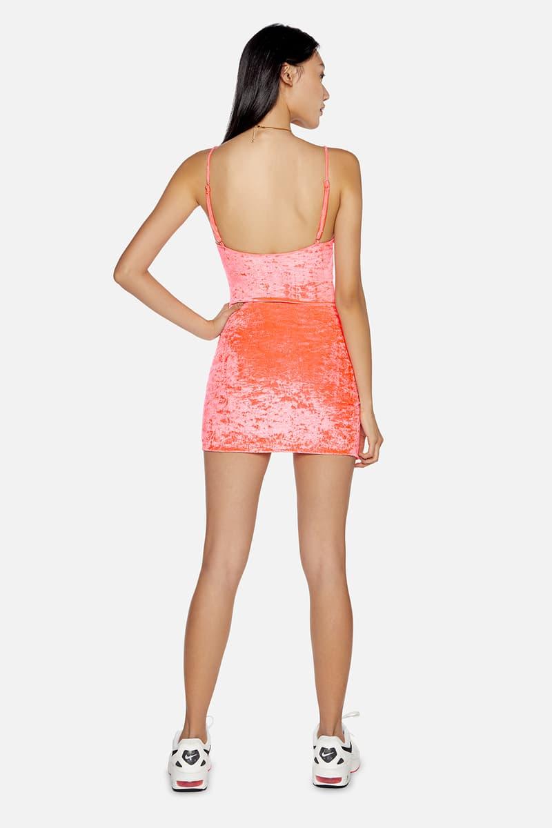 kith frankies bikinis collaboration dress neon pink