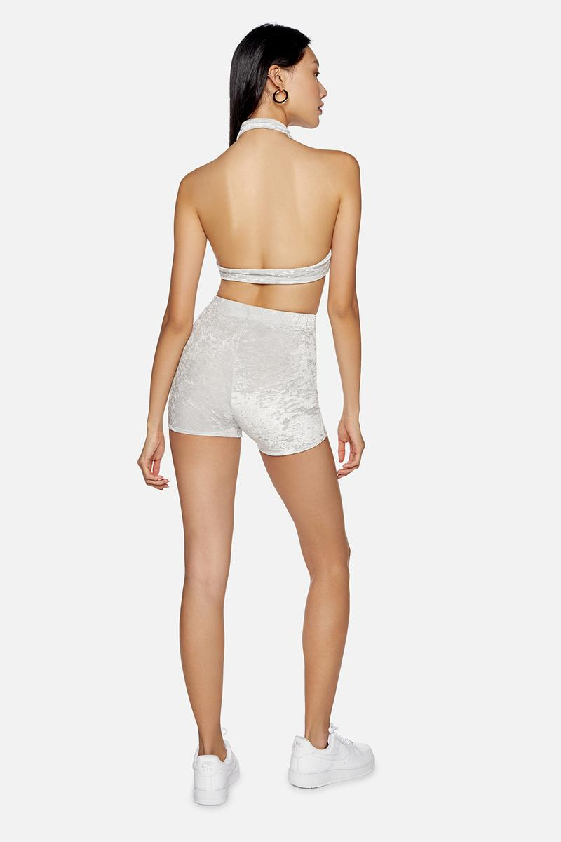 kith frankies bikinis collaboration bottom biker shorts top grey