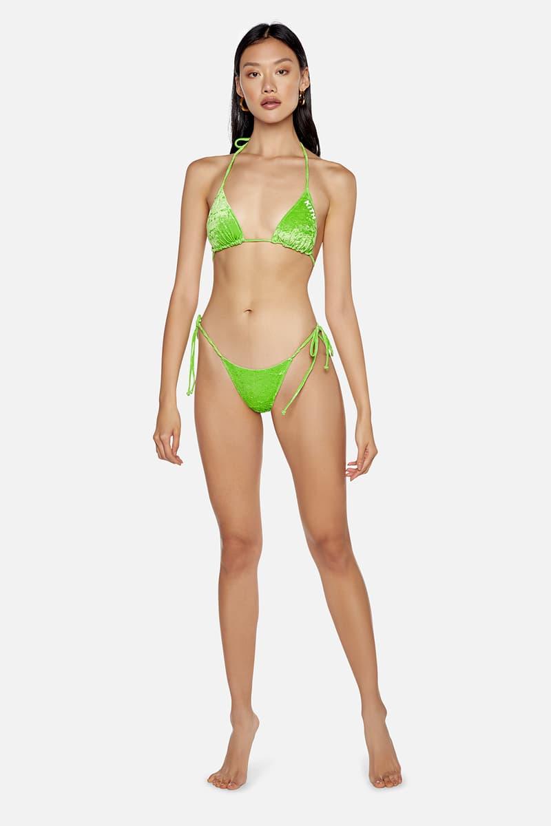kith frankies bikinis collaboration bottom top neon green