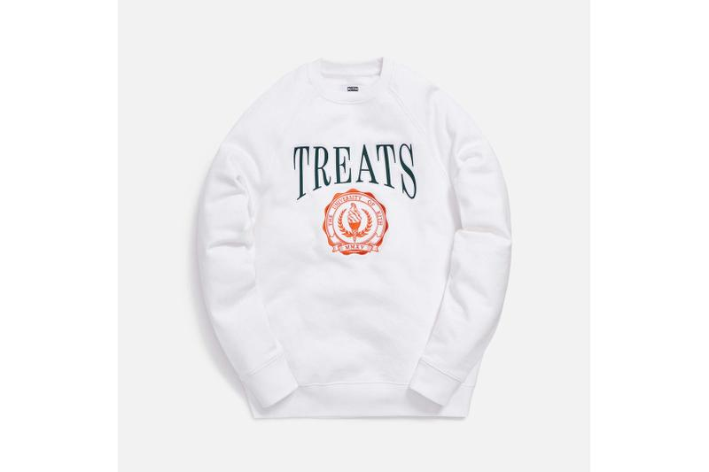 KITH Treats Collegiate Collection Crewneck Sweater White