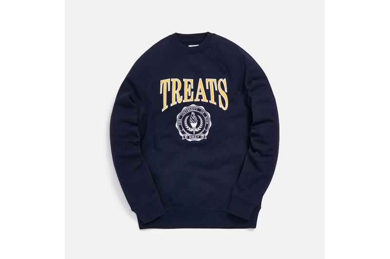 KITH Treats Collegiate Collection Crewneck Sweater Navy Blue