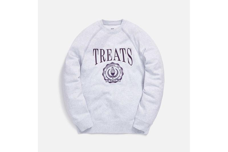 KITH Treats Collegiate Collection Crewneck Sweater Grey