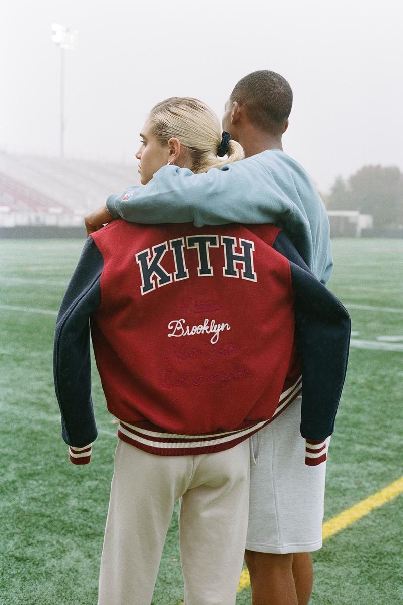 KITH x Vogue x Russell Athletic Love Thy City Collection Campaign Varsity Jacket Miami Back