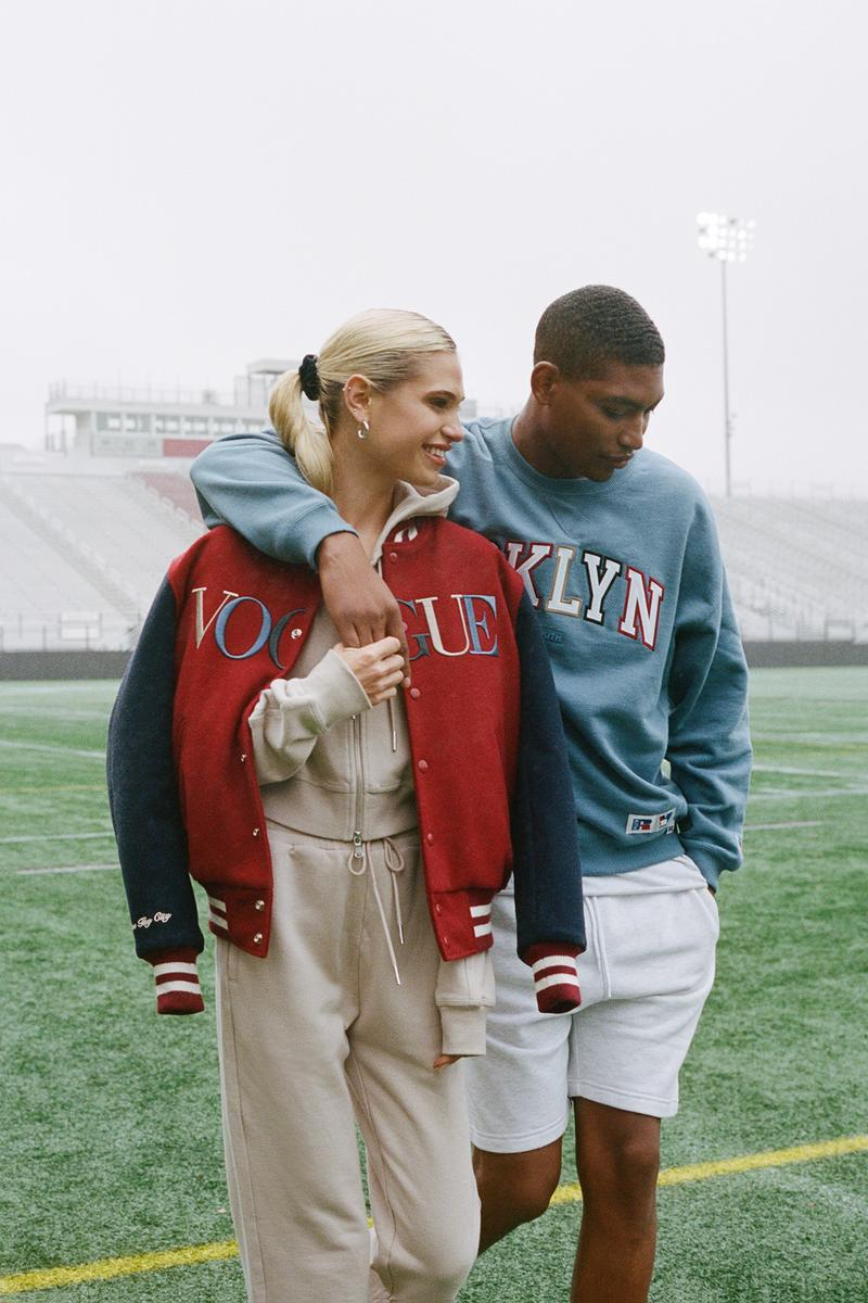 KITH x Vogue x Russell Athletic Love Thy City Collection Campaign Varsity Jacket Crewneck