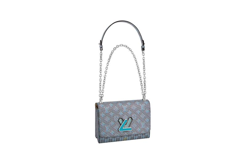 louis vuitton twist bag fall winter collection monogram accessories hangbag white gold chain alicia vikander