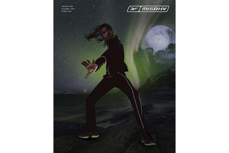 MISBHV x Reebok Daytona DMX 2.0 Release Date HBX Sneaker Trainer Shoe Black Neon Green Futuristic Drop Collaboration