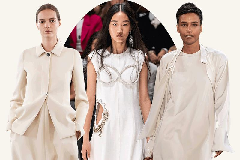 moda operandi runway color trend report ivory spring summer 2020 fashion