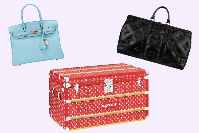 Most Expensive Designer Bags Sold StockX Luxury Resale Louis Vuitton Supreme Trunk Virgil Abloh Keepall Hermes Birkin