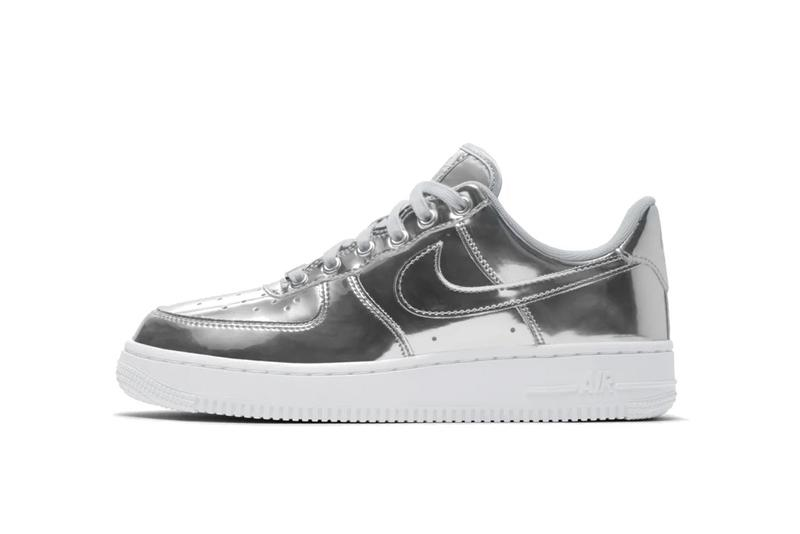 Nike Air Force 1 Metallic Silver Rose Yellow Gold Sneaker Trainer Release Shiny