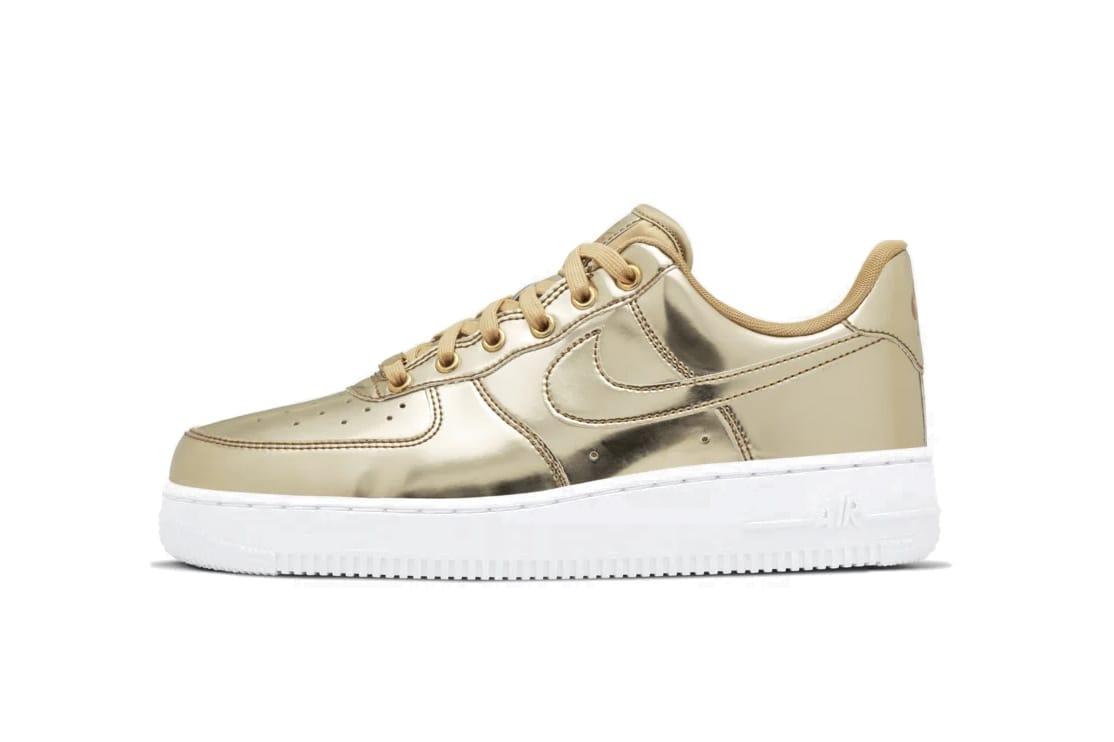 Nike Air Force 1 Metallic Silver Rose