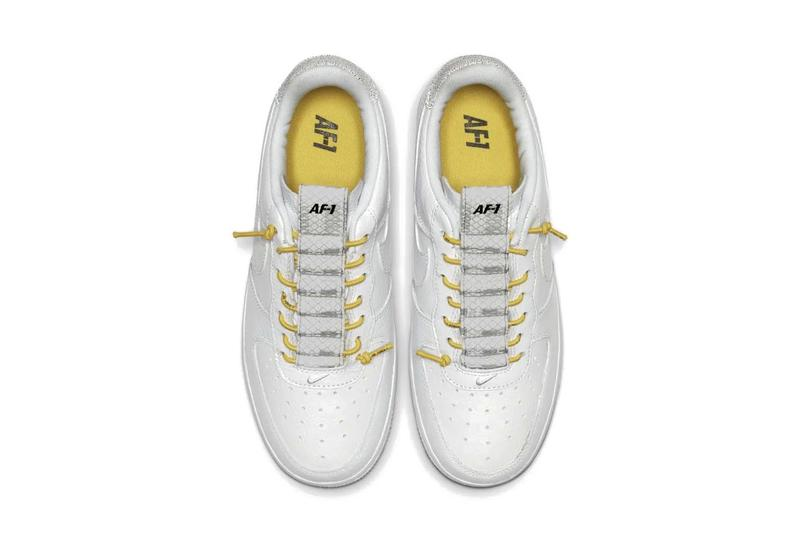 Nike Air Force 1 Sneaker Yellow Laces Sneakers Futuristic Trainer
