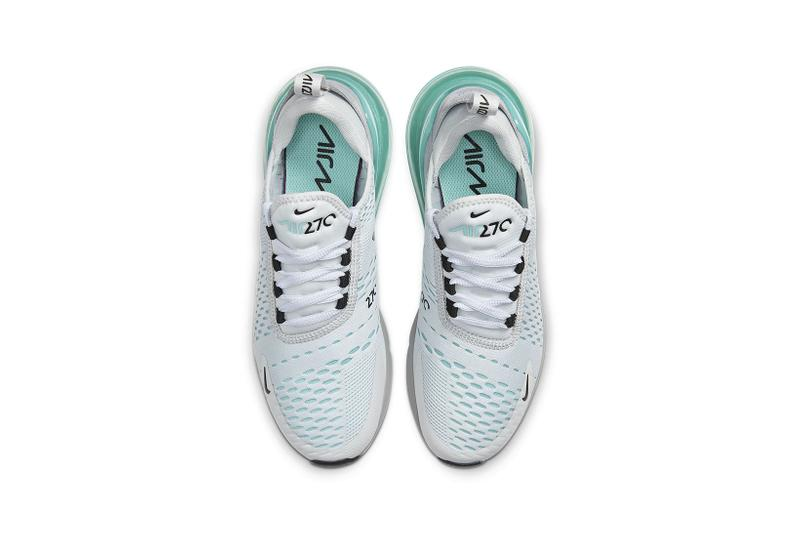 nike air max 270 womens sneakers aqua blue grey white aurora pure platinum shoes footwear