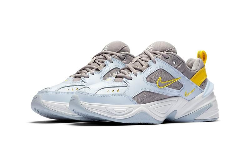 Nike M2K Tekno in Half Blue Atmosphere Grey Chrome Yellow Sneakers Trainers