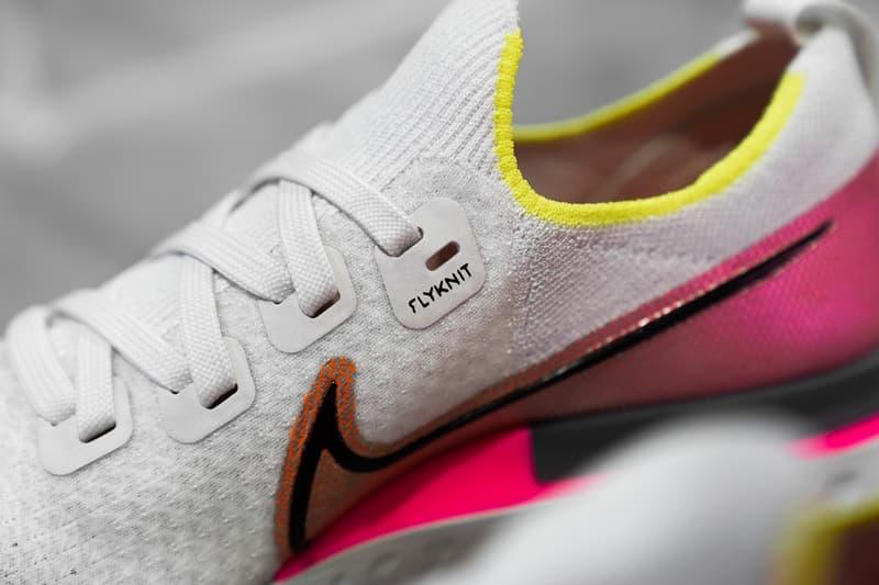 nike react infinity run sneakers white pink neon yellow shoes footwear sneakerhead