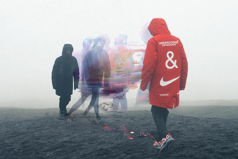 nike undercover collaboration air max 720 react boot sneakers jackets red black Jun Takahashi