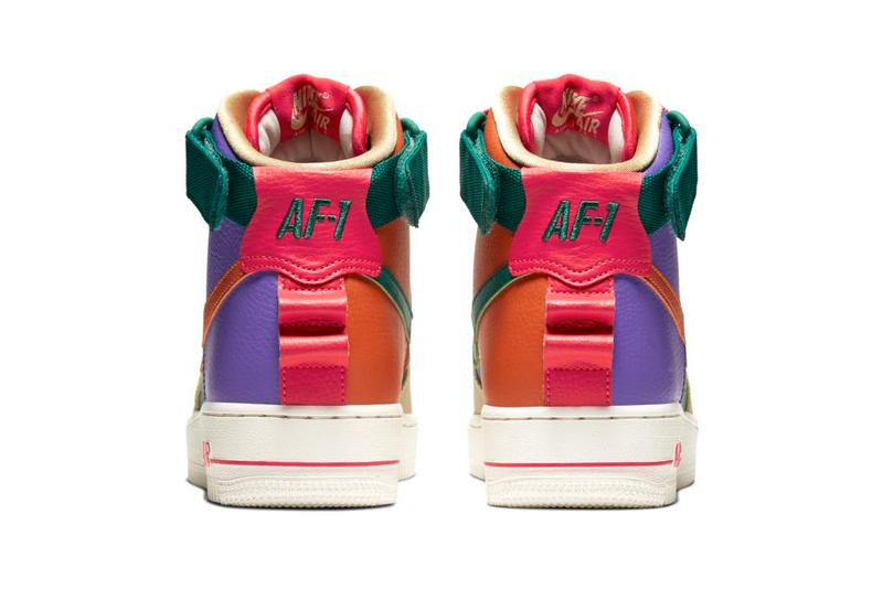 Nike Women's Air Force 1 High Utility Multicolor Purple Green Orange