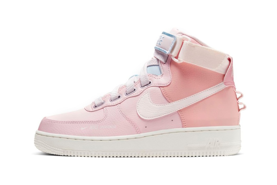 pink high top air force 1