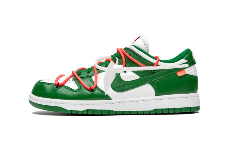 Off-White x Nike Dunk Low Pine Green