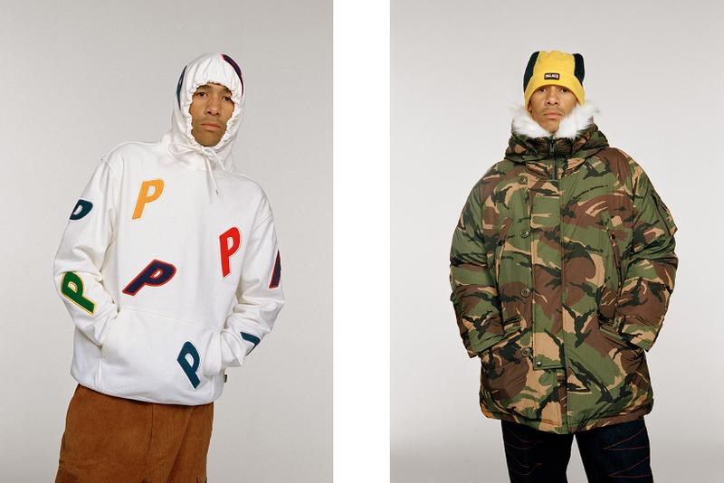 palace ultimo winter collection hoodies jackets beanies lookbook pink orange clothe fashion