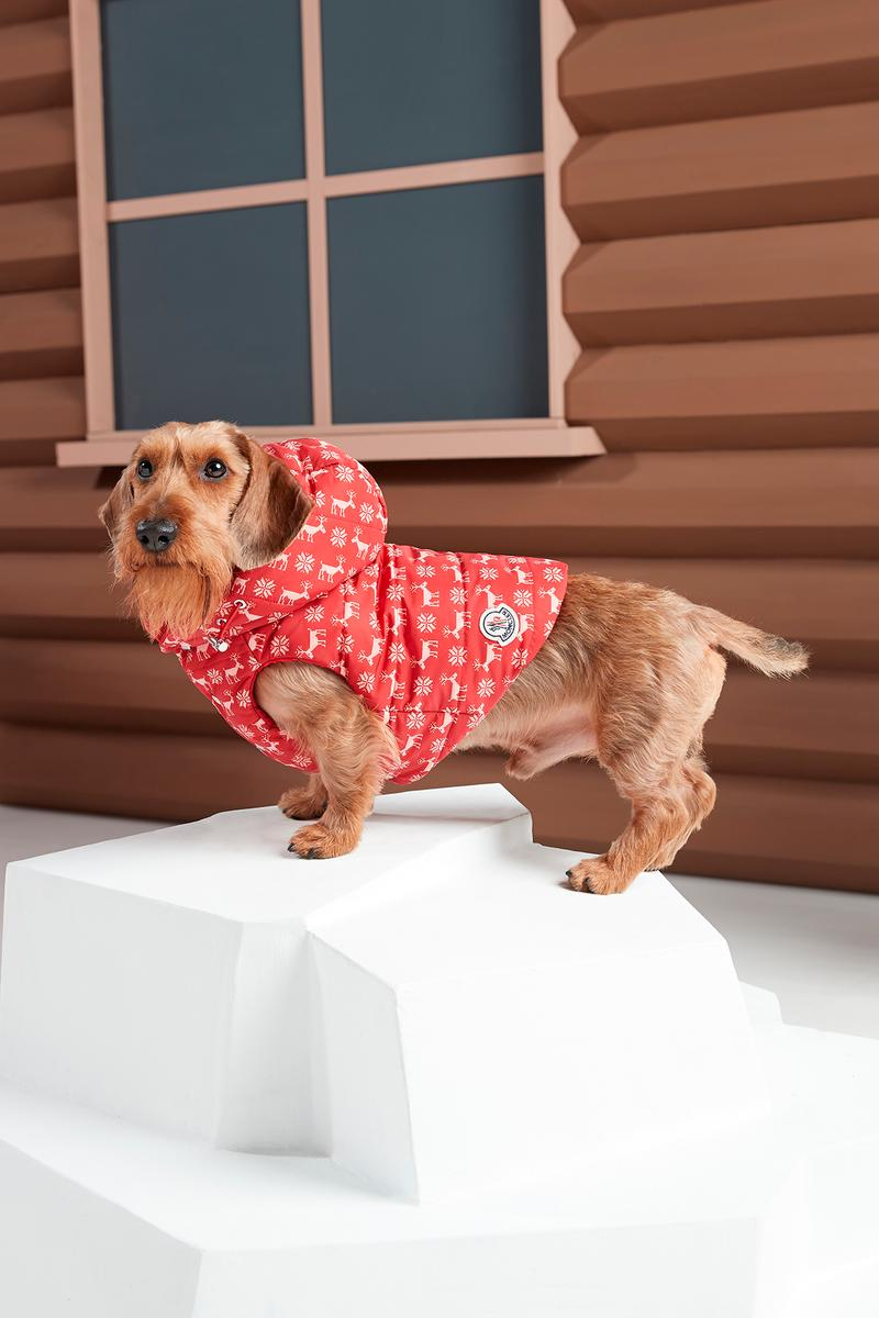 Poldo Dog Couture x Moncler Collection Lookbook Mondog Puffer Coat Special Edition Red