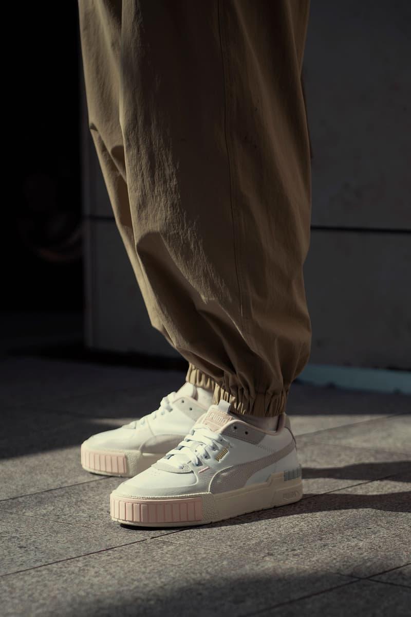 puma cali sport sneaker fall winter 2019 tokyo lookbook brown slouchy pants