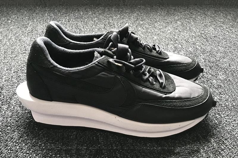sacai  Nike LDWaffle Black Leather Suede White midsole Chitose Abe release date info sneakers trainers