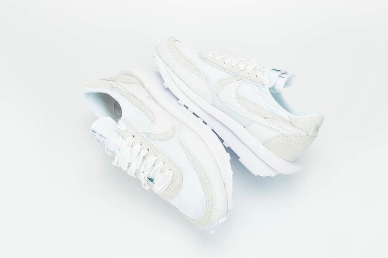 "sacai x Nike LDWaffle ""White"" Closer Look Release Date Sneaker Chitose Abe Collaboration White Grey"