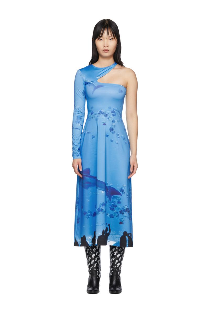 SSENSE Exclusive Saks Potts Asymmetric Dress Blue