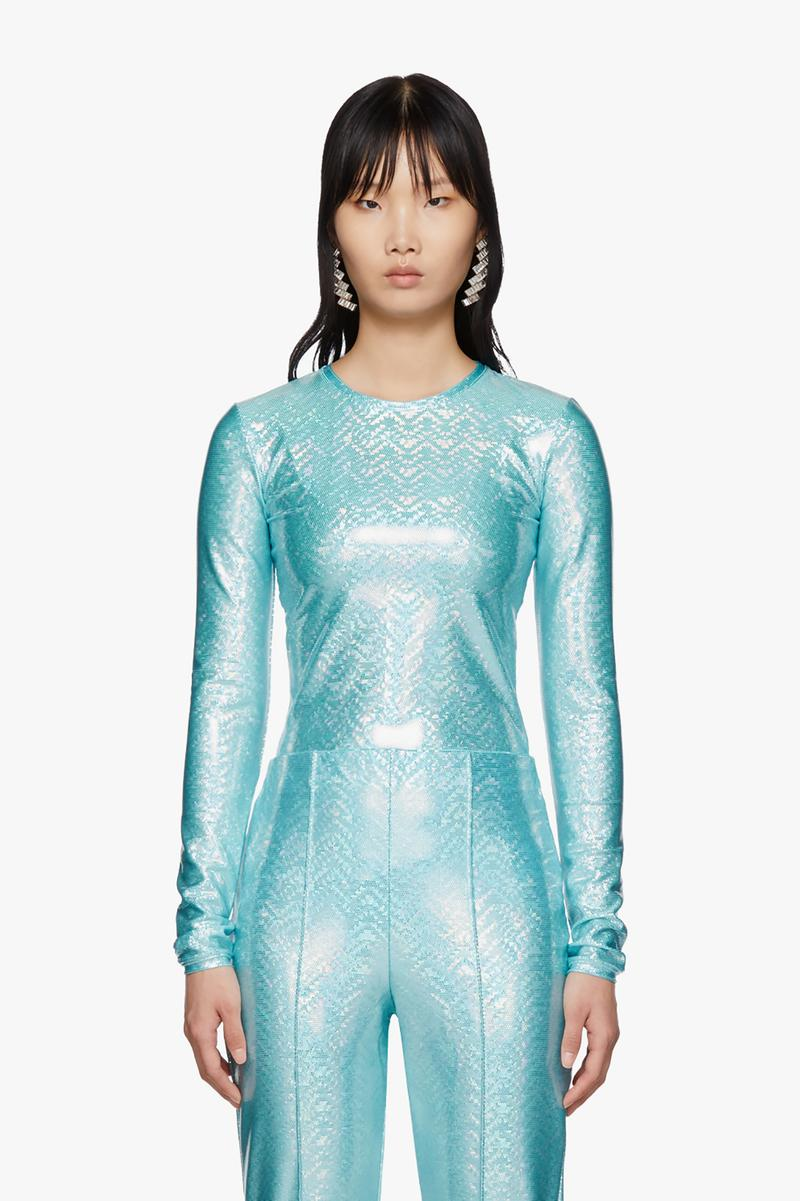 SSENSE Exclusive Saks Potts Sanya Long Sleeve T-Shirt Blue