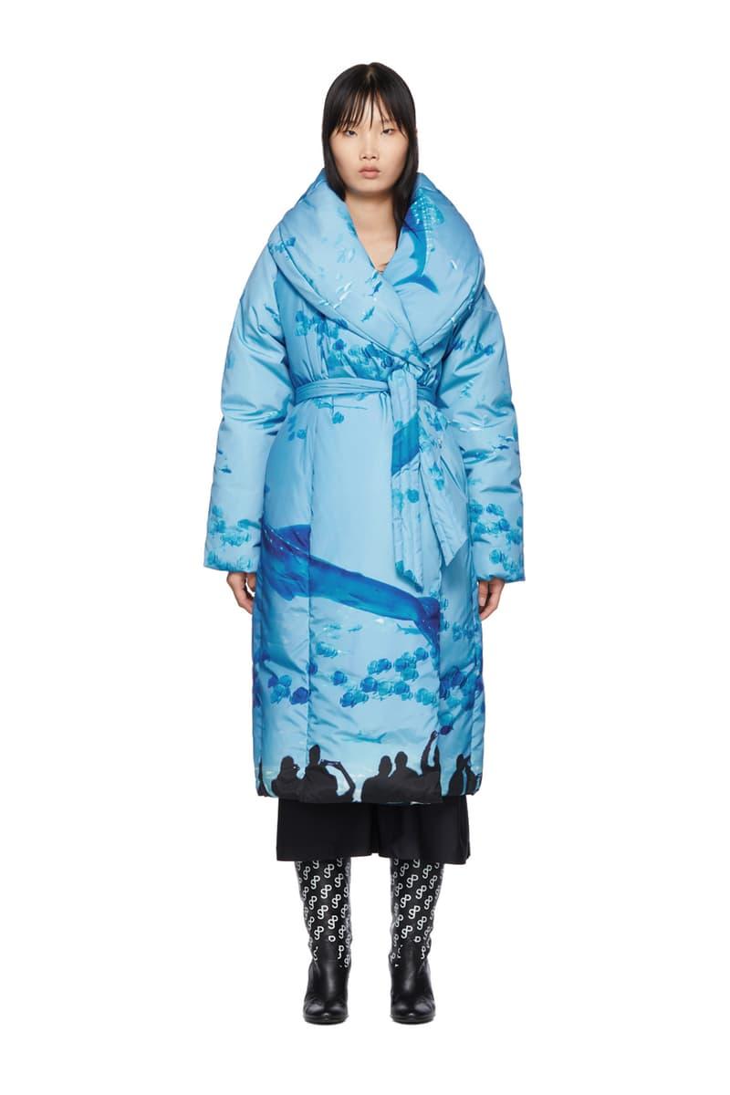 SSENSE Exclusive Saks Potts Sauna Puffer Coat Blue