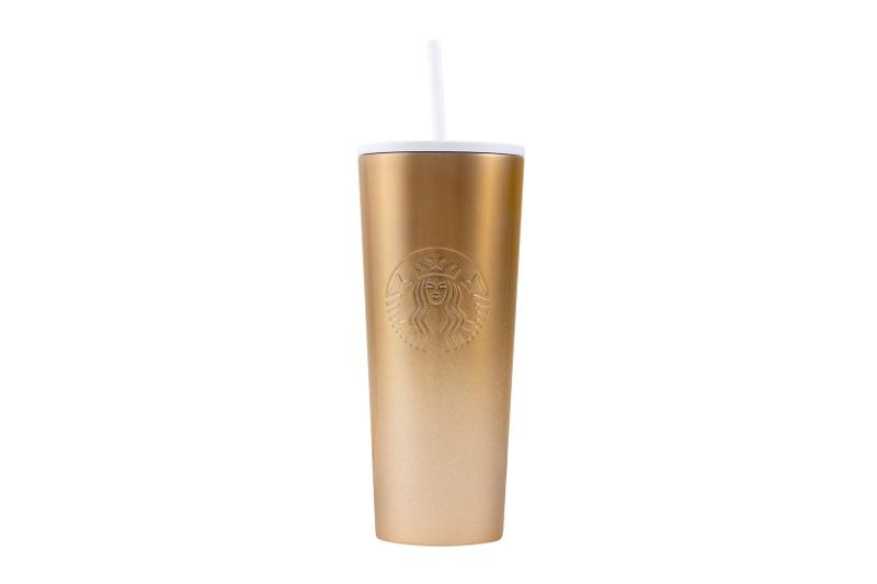 Starbucks Holiday 2019 Reusable Cups Glitter Gradient Gold