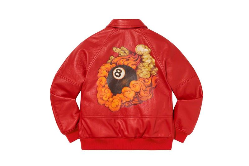 Martin Wong x Supreme Collection Schott Leather Jacket Eight Ball Red