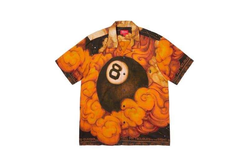 Martin Wong x Supreme Collection Rayon Shirt Eight Ball