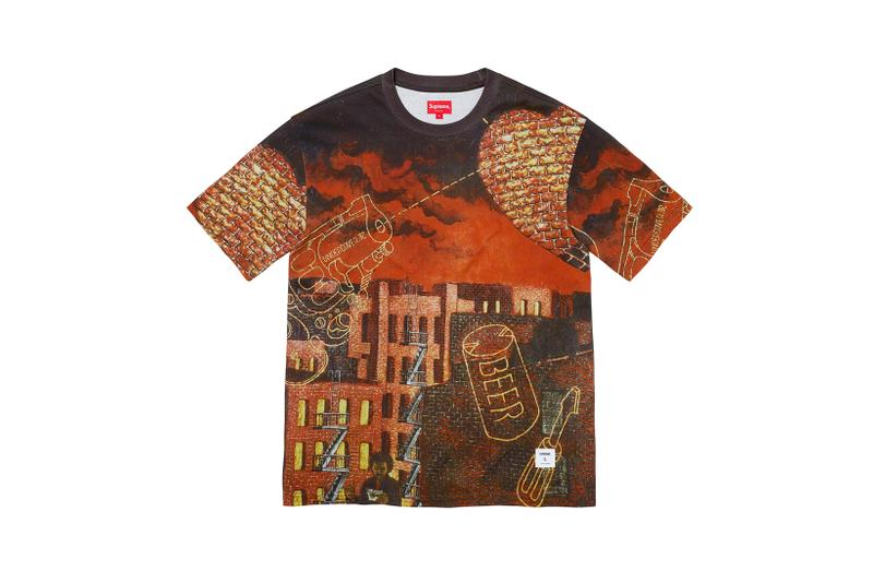 Martin Wong x Supreme Collection T-Shirt All Over Print Brown