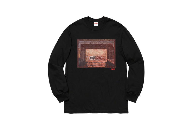 Martin Wong x Supreme Collection Long Sleeve T-Shirt Black