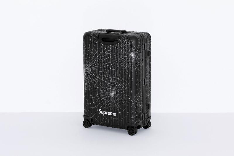 supreme rimowa collaboration suitcases check in carry on black bags travel