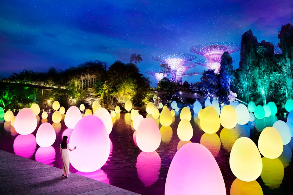 teamLab to Bring 7 Immersive Light Shows to Singapore's Gardens by the Bay