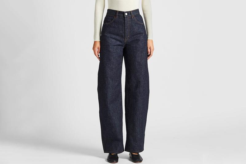 Uniqlo U Women Wide-Fit Curved Jeans Indigo Blue Fall Winter 2019 Christophe Lemaire