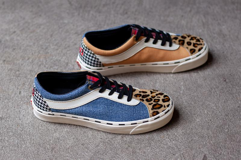 Vans Bold NI Bender Denim Marshmallow Leopard Ponyhair