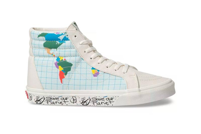 vans save our planet collection sk8 hi reissue sneakers sustainability shoes footwear white