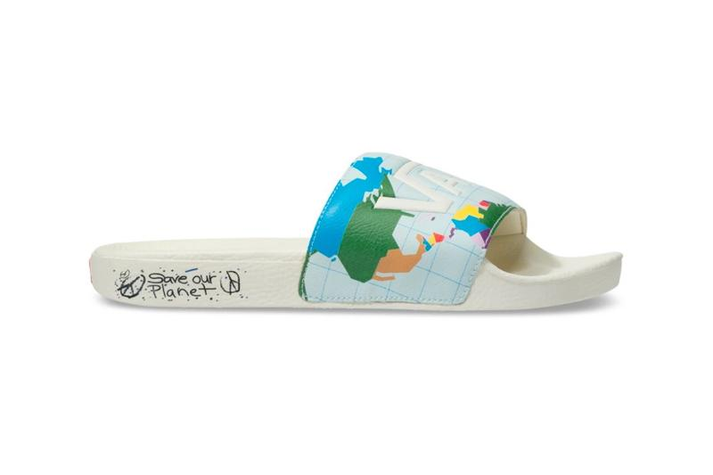 vans save our planet collection slideon slippers sneakers sustainability shoes footwear white