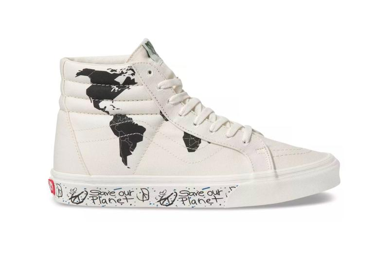 vans save our planet collection sk8 hi reissue sneakers sustainability shoes footwear white black