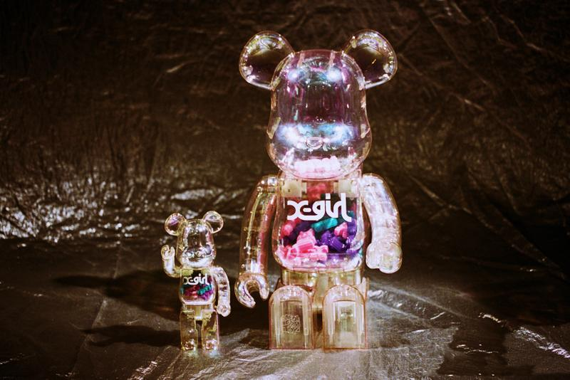 X-Girl BE@RBRICK Transparent Bear Figure Collectible 3-D Logo Streetwear