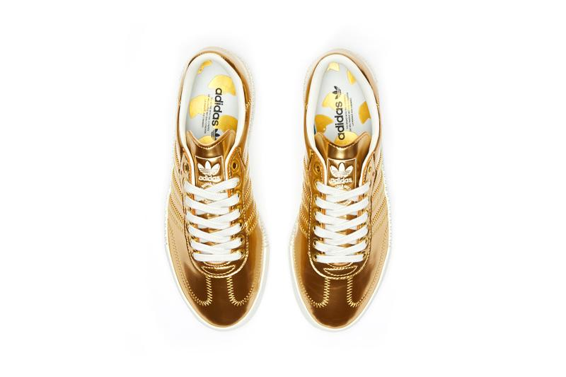 adidas originals sambarose sneakers gold metallic shoes footwear