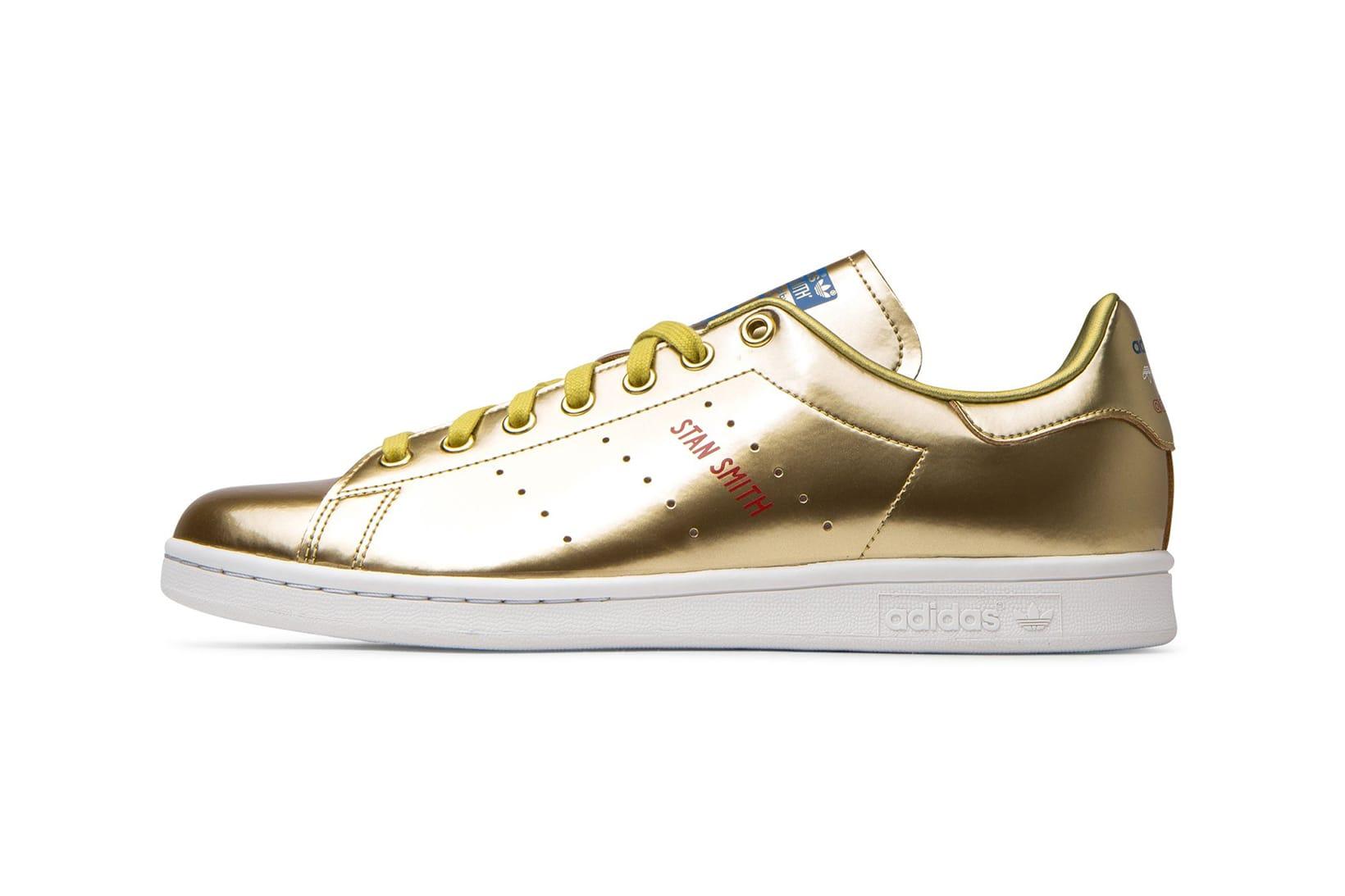 adidas stan smith metallic